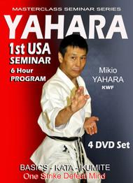 MASTERCLASS SEMINAR SERIES Yahara 1st USA SEMINAR (4 Volume Set 90 min each) By Mikio Yahara