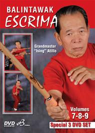 "ESCRIMA BALINTAWAK VOL. 7-8-9 (3 DVD SET) By Grandmaster ""Ising"" Atillo"