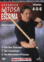 NEW SPECIAL 3 DVD SET SERIES!!!  ADVANCED LATOSA ESCRIMA SET  Vols. 4–5–6 By Grandmaster Rene Latosa