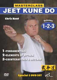MASTERCLASS JEET KUNE DO DVD Set Vols.1-2-3 By Chris Kent