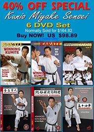 Kunio Miyake KARATE - 6 Set SPECIAL 40% OFF