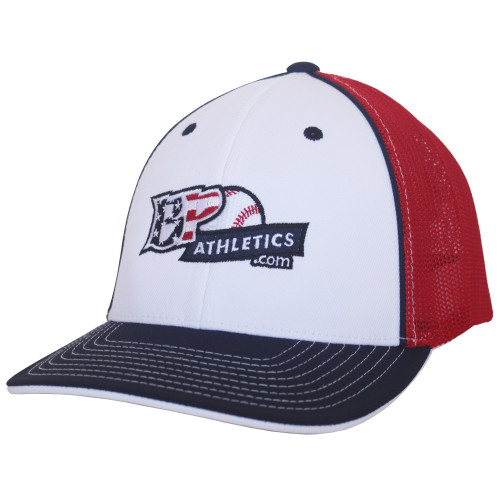 BP Athletics USA Logo Baseball/Softball Trucker Hat by Pacific 404M