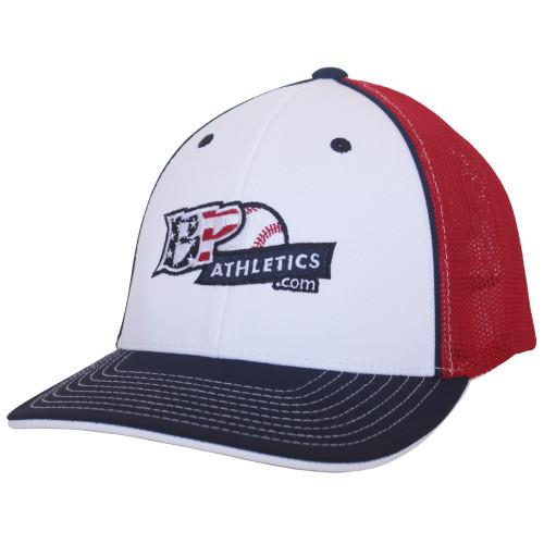 BP Athletics USA Logo Baseball/Softball Trucker Hat by Pacific 404M