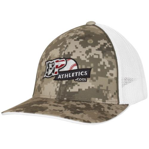 BP Athletics Camo USA Logo Baseball/Softball Trucker Hat by Pacific 408M