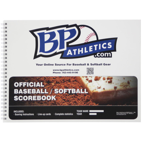 BP Athletics Official 18 Player Baseball/Softball Scorebook