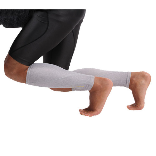 Phiten Titanium Heather Compression Calf Sleeves (Pair)