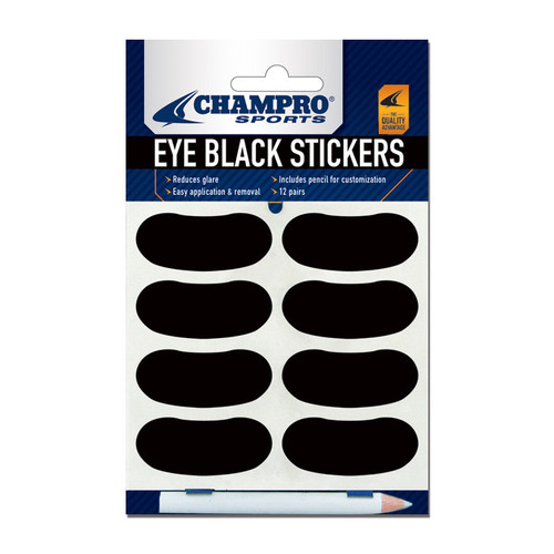 Champro Eye Black Stickers for Baseball, Softball and Football - 12 Pair