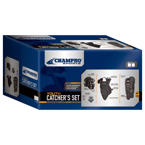 Champro Hel-Max Ages 9-12 Youth Baseball/Softball Catcher's Set