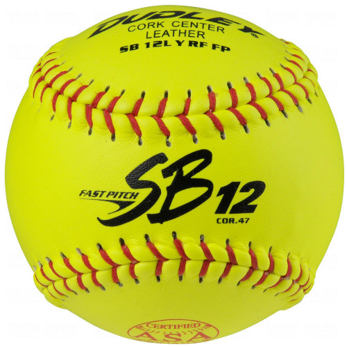 "Dudley SB12L ASA 12"" Leather Fastpitch Game Softballs - Dozen"