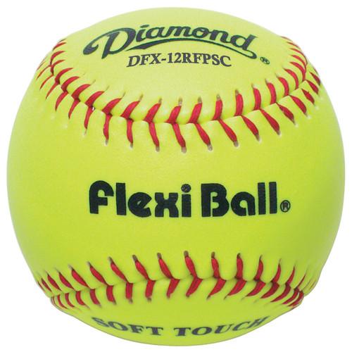Diamond DFX-12RFPSC FlexiBall 12 Inch Optic Synthetic Fastpitch Softballs - Dozen