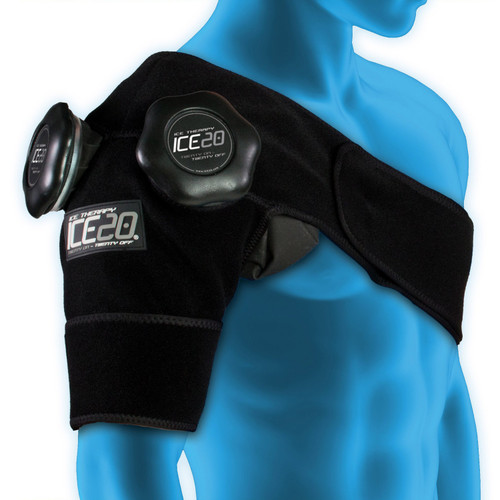 ICE20 Double Shoulder Compression Wrap w/Two 11 Inch Ice Bags
