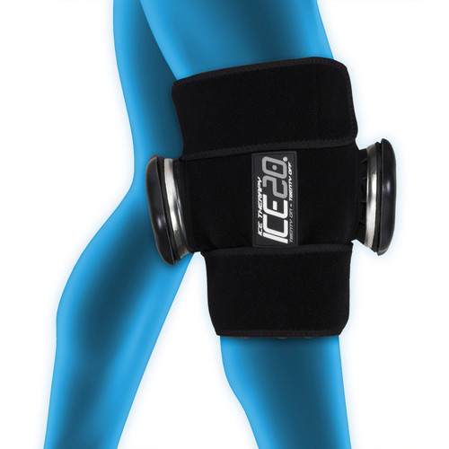 ICE20 Double Knee Compression Wrap w/Two 11 Inch Ice Bags