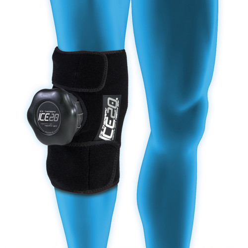 ICE20 Single Knee Compression Wrap w/11 Inch Ice Bag