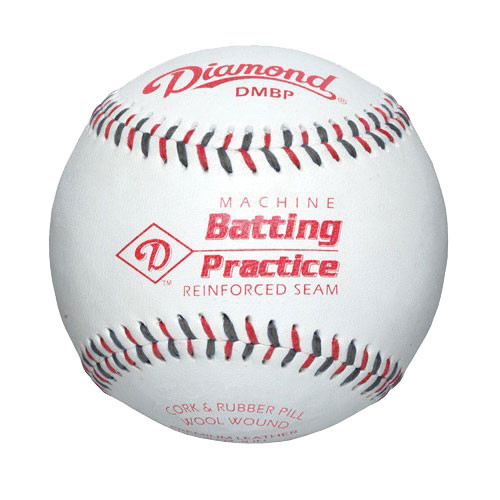 Diamond DMBP Machine Batting Practice Baseballs - Dozen