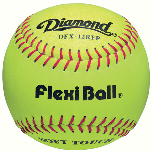 Diamond DFX-12RFP FlexiBall 12 Inch Optic Leather Fastpitch Softballs - Dozen