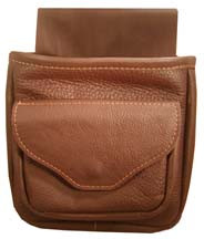 #144 Soft leather double pouch with front pocket