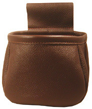 #149 Soft leather. Holds a box of 12 gauge in the box or dump your shells.