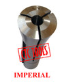 "R8 BRIDGEPORT MILLING MACHINE COLLET ROUND IMPERIAL SAE DRAWBAR THREAD 7/16"" 20TPI BORE CNC"