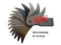 MACHINIST METRIC INSIDE OUTSIDE RADIUS GAUGES GAGES R1 TO R100