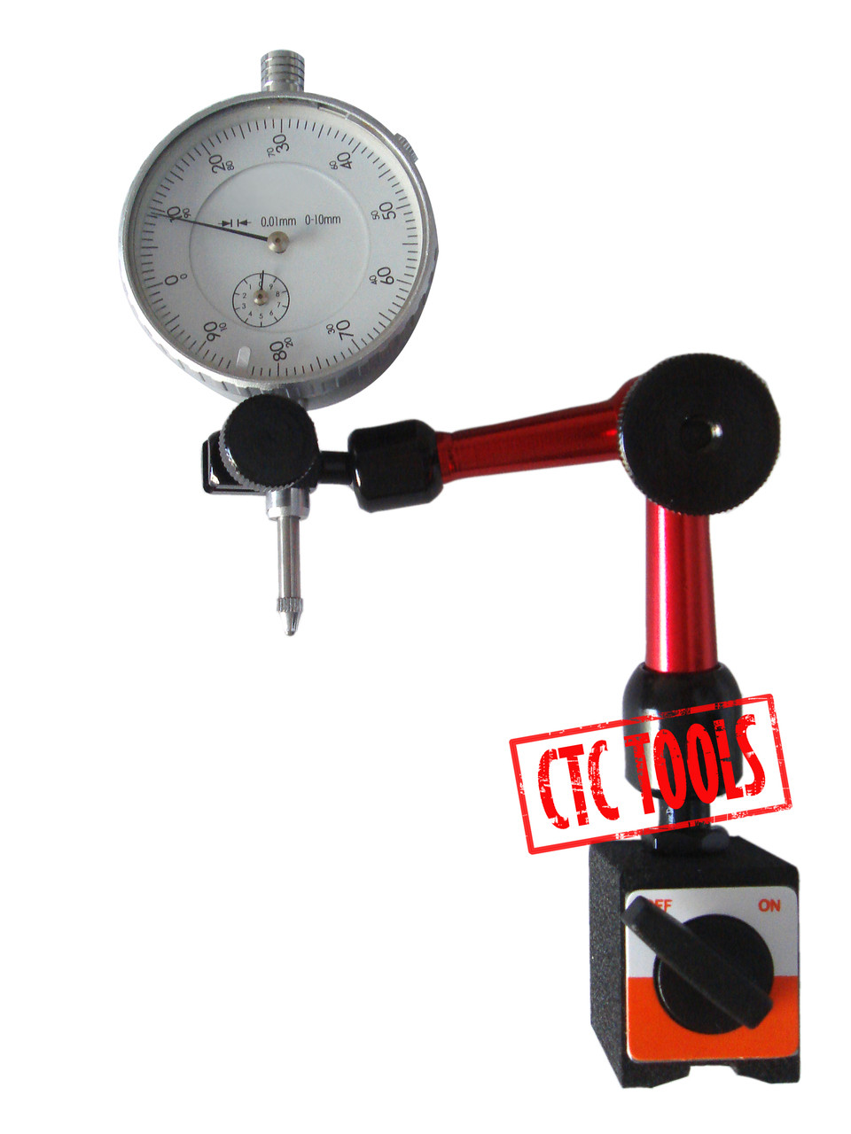 Hydraulic Arm With Magnetic Base Indicator : Dial indicator gauge hydraulic magnetic base d ctc