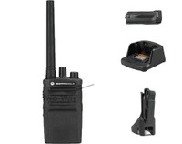 Motorola RMV2080 VHF Two Way Radio, Charger, Battery, and Holster