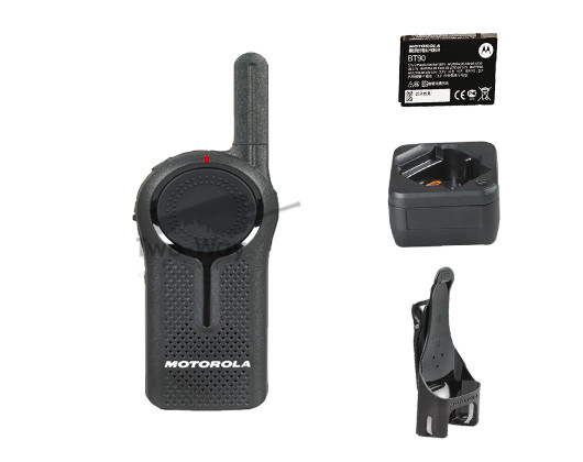 Motorola DLR1020 Digital Two Way Radio, Battery, Charger, and Belt Clip