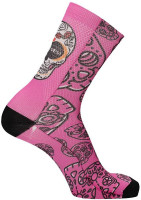 MB Wear Fun Socks Pink Skull Unisize