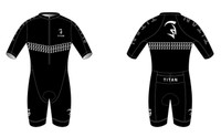'Black Caviar' Short Sleeve Tri Suit