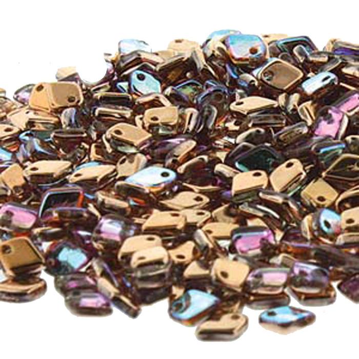 Crystal Copper Rainbow Czech Glass Dragon Scale Bead 1 5X5Mm 9 5 Grams