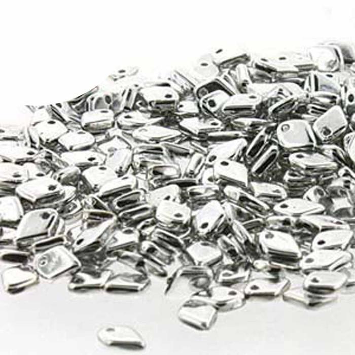Crystal Full Labrador Czech Glass Dragon Scale Bead 1 5x5mm 9 5 Grams