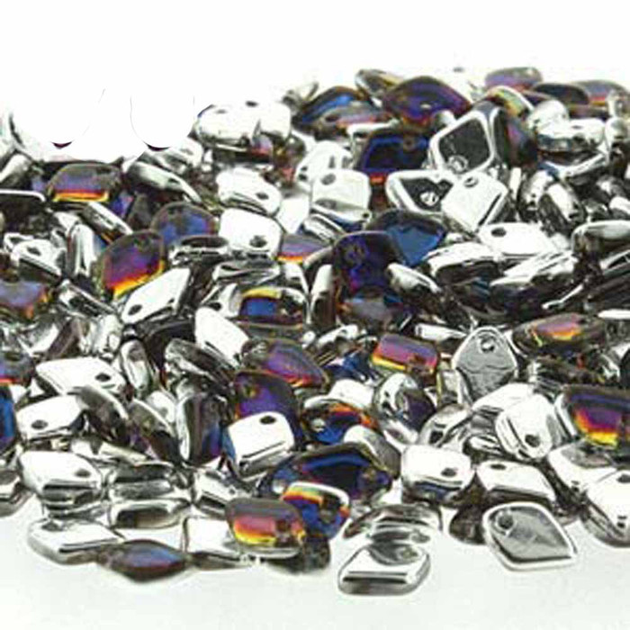 Crystal Volcano Czech Glass Dragon Scale Bead 1 5x5mm 9 5 Grams
