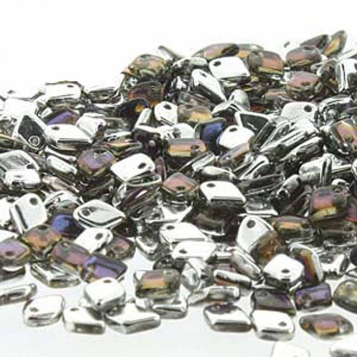 Crystal Bermuda Blue Czech Glass Dragon Scale Bead 1 5x5mm 9 5 Grams