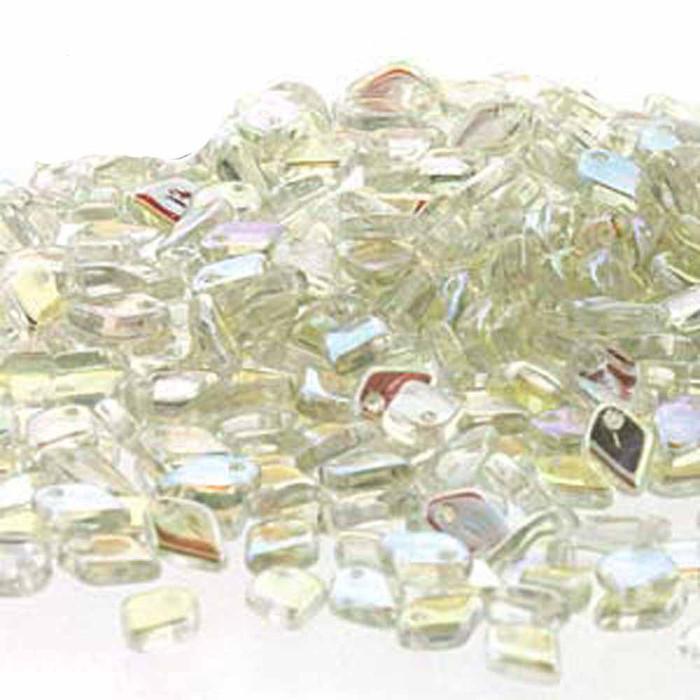 Green Rainbow Czech Glass Dragon Scale Bead 1 5x5mm 9 5 Grams