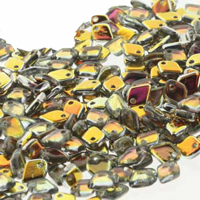 Crystal Marea Czech Glass Dragon Scale Bead 1 5x5mm 9 5 Grams
