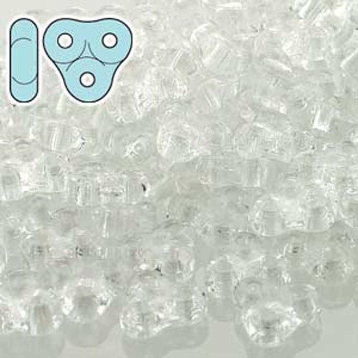 Crystal 6mm Trinity 3-hole Czech Glass Beads 8 Grams