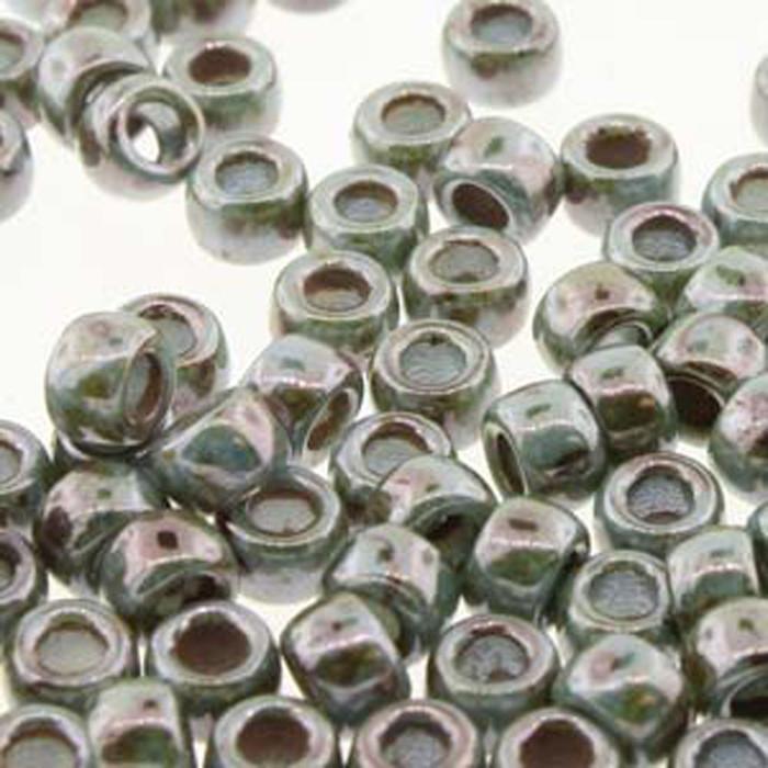 Matubo Czech Glass Seed Beads 7/0 (3.5mm) 50 Grams 1.5mm Hole (Chalk Lazure Blue)