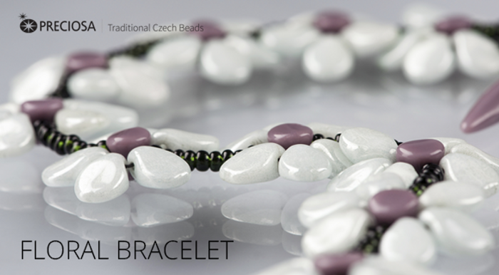 Floral Bracelet Free Jewelry Making Project complements Preciosa