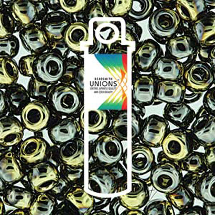 Black California Graphite Unions 11/0 Seed Beads Round Rocailles 24 Grams