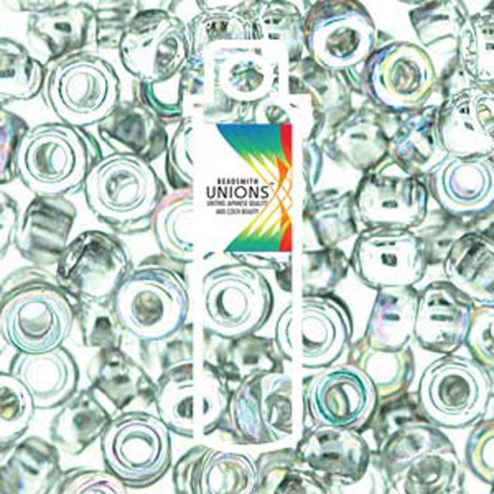 Crystal Silver Rainbow Unions 8/0 Seed Beads Round Rocailles 22 Grams