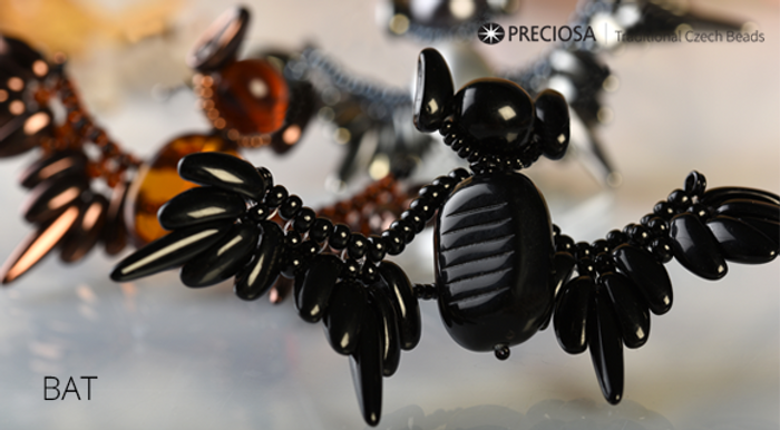 Bat with Chilli Beads- Free Jewelry Making Project complements Preciosa