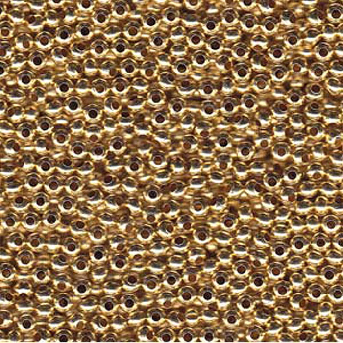 Genuine Metal Seed Beads 11/0 Gold Tone Gilding Metal 15 Grams