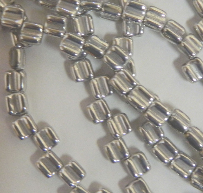 Groovy 6mm Czchmate Glass Czech Two Hole Crystal Full Labrador 40 Beads