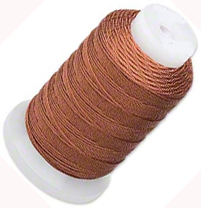 Silk Beading Thread Cord Size E Brown 0.0128 Inch 0.325mm Spool 200 Yd