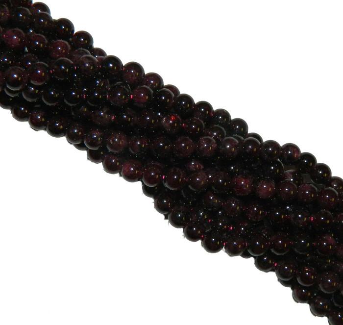 4mm Garnet Gemstone Round beads 15 Inch Loose Strand