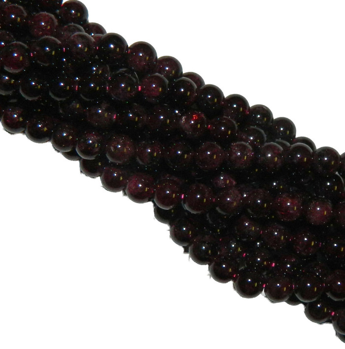 10mm Garnet Gemstone Round beads 15 Inch Loose Strand