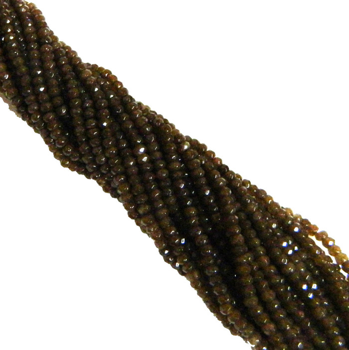 4mm Plum Quartz Faceted Dyed Gemstone Rondelle Beads 15 Inch Loose