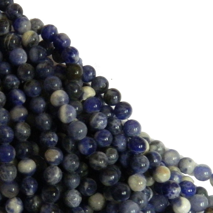 Sodalite 4mm Natural Gemstone Rondelle Beads 15 Inch Loose