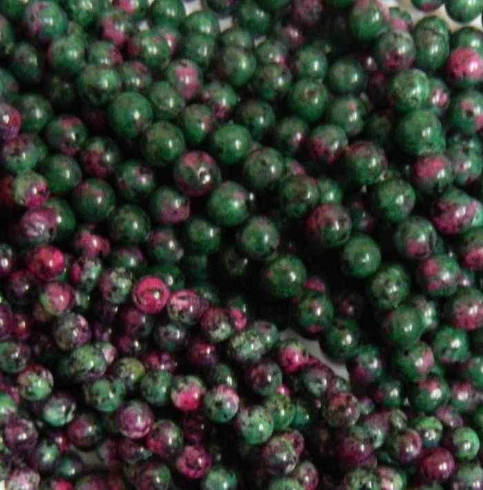 Ruby Zoisite 8mm Natural Gemstone Rondelle Beads 15 Inch Loose