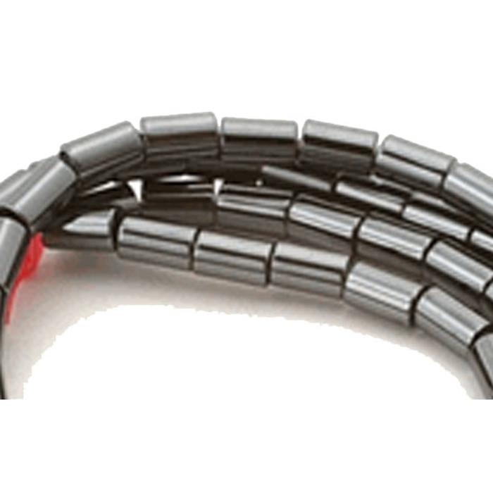 3x5mm Hematite Manmade Tube Beads 15 inch Loose Srand