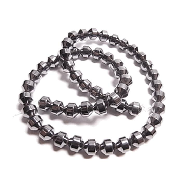 6mm Hematite Manmade Drum Beads 15 inch Loose Srand